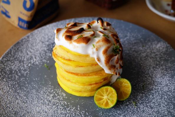 Calamansi Meringue Pancakes