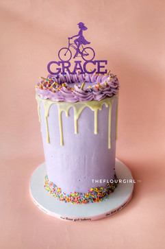 Lavender drip cake