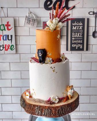 Puppy Love Wedding Cake