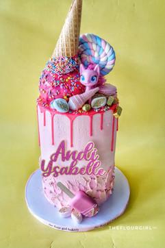Pinkie Pie Decorated Upside Down Ice Cream Cake