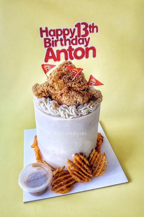 FRIED CHICKEN CAKE