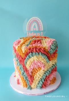 Shaggy Rainbow Cake