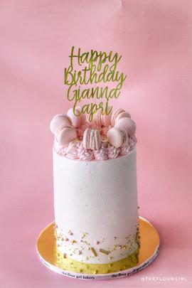 Pink Macaron Cake