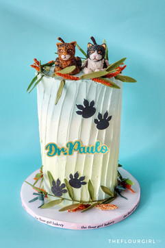 Cat Daddy themed buttercream cake