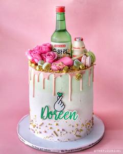 Soju Drip Cake