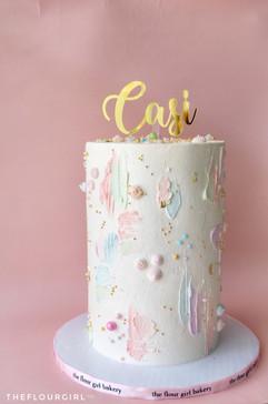 Pastel PaintedButtercream Cake