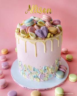 Pastel Macarons Cake