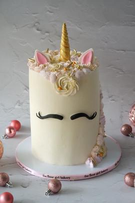 Unicorn Face Cake