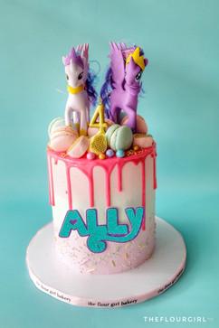 My little pony themed buttercream cake