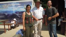 So fing alles an - im Tal der Pyramiden...Amir und ich mit Dr. Sam Osmanagic