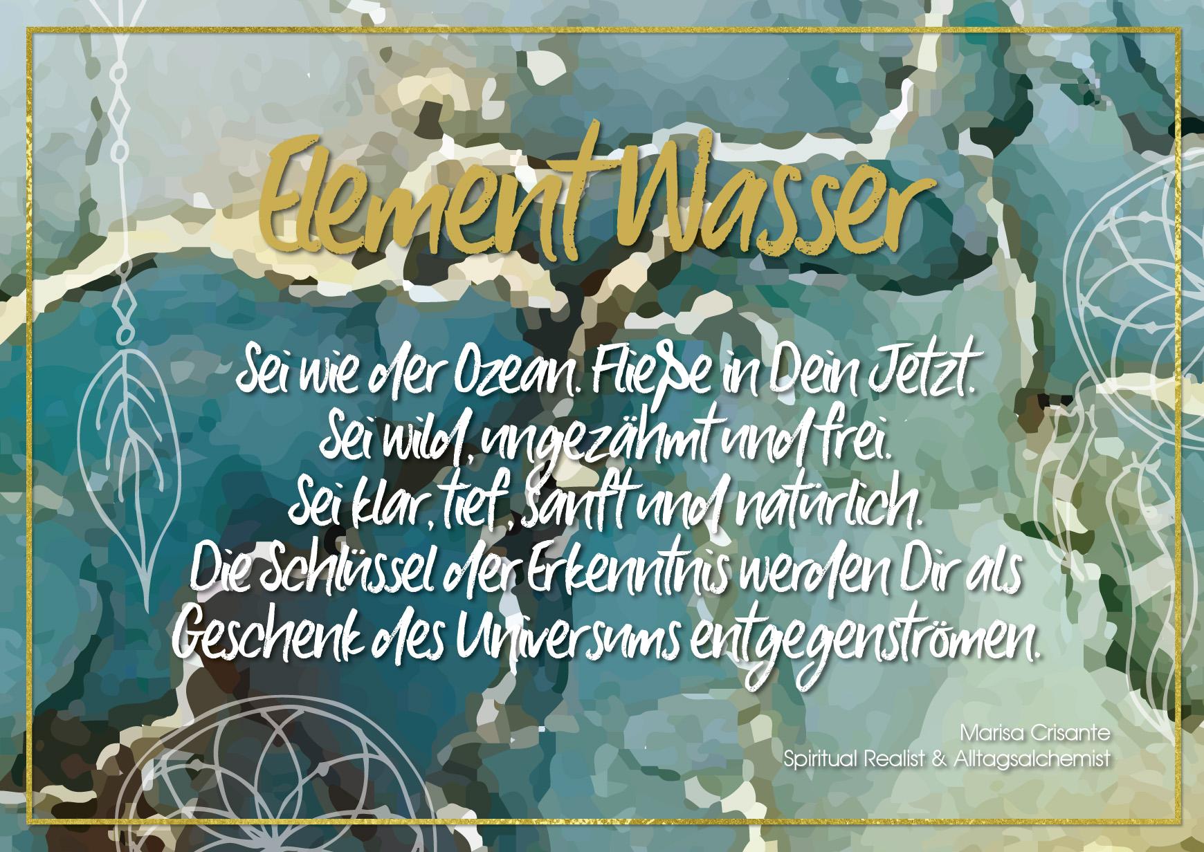 Postkarte Element Wasser