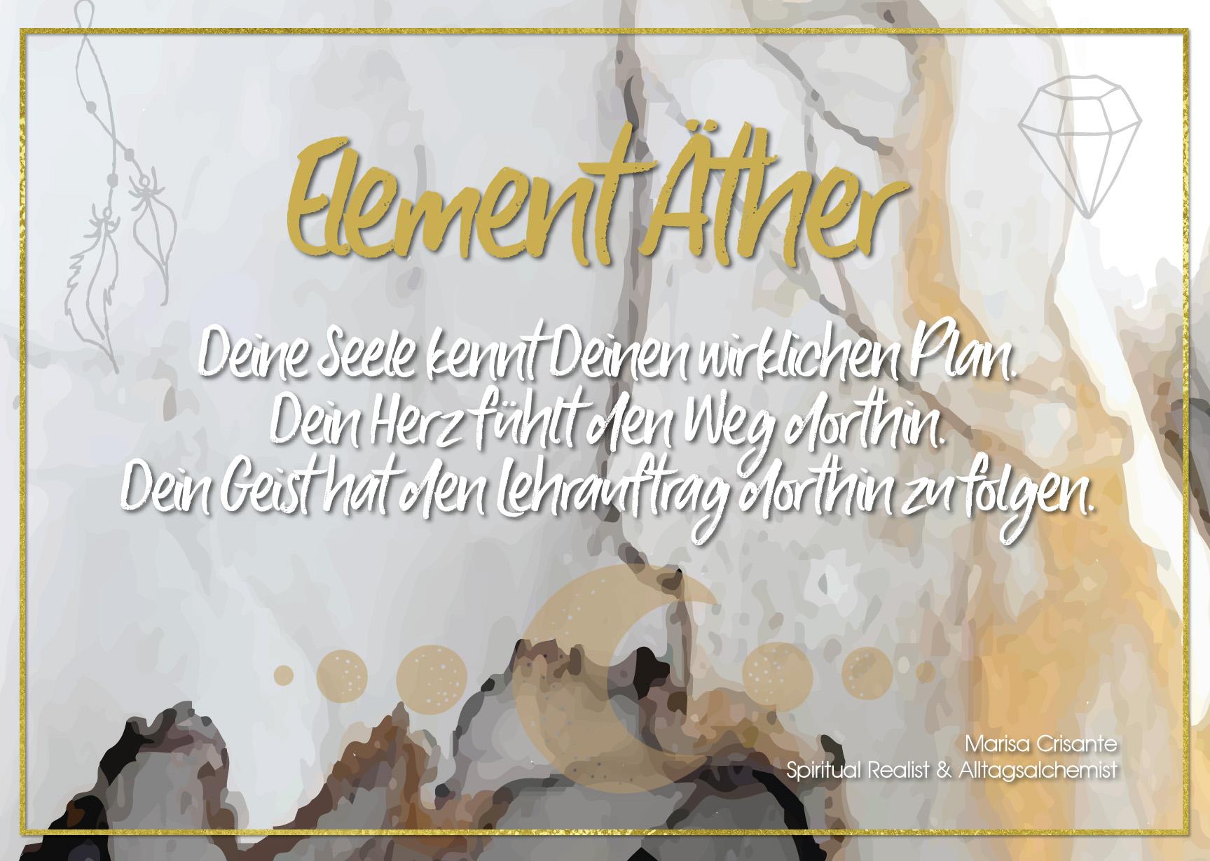 Postkarte Element Äther