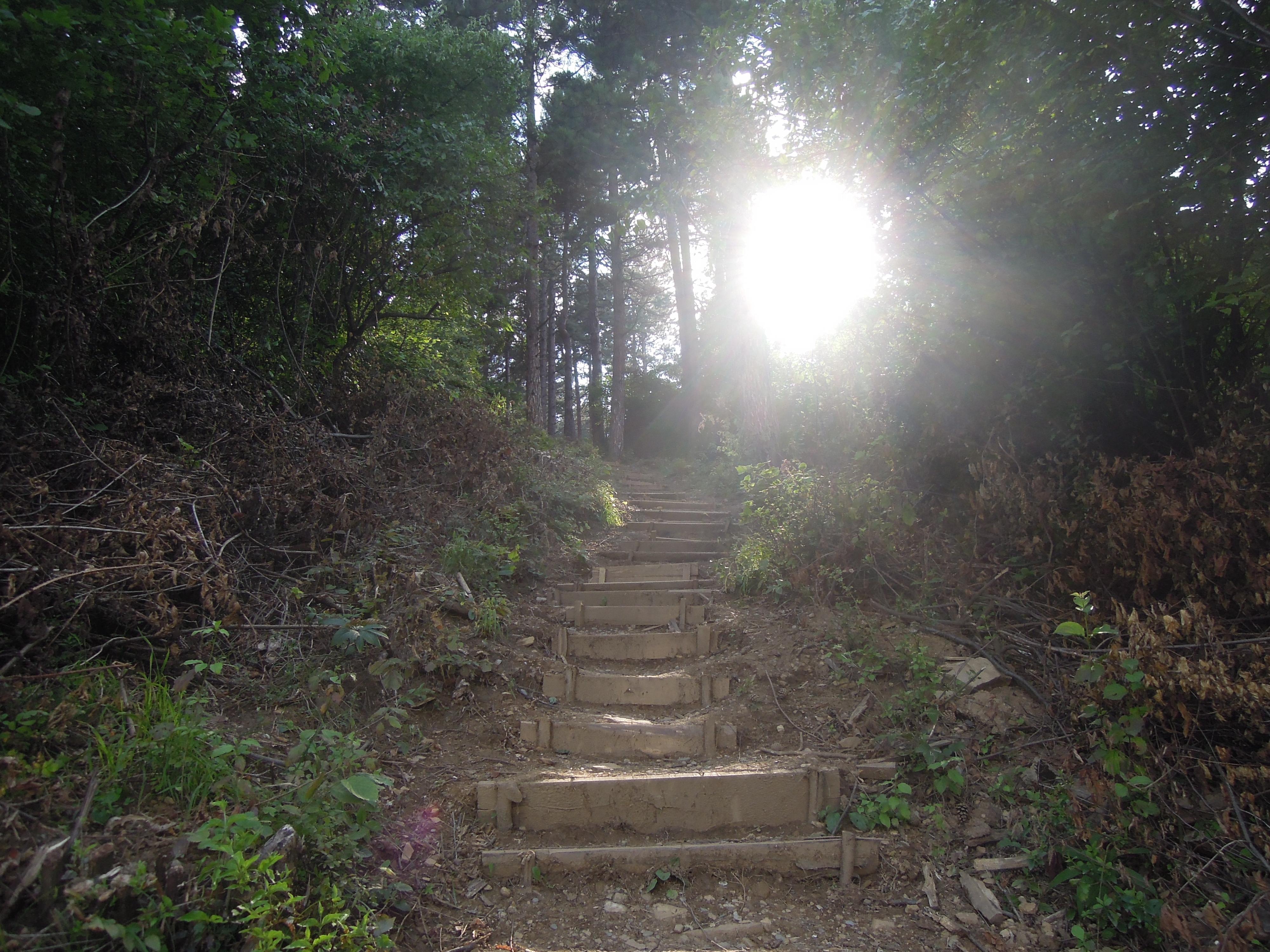 Stufen - Nordseite Sonnenpyramide