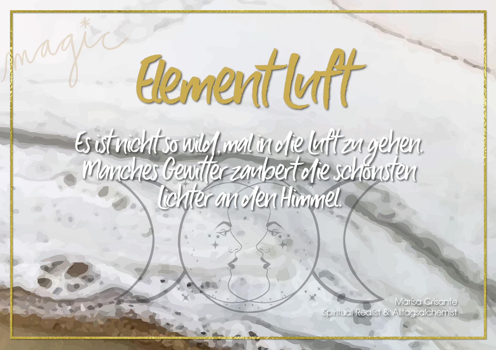 Postkarte Element Luft