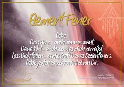 Postkarte Element Feuer