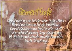 Postkarte Element Erde