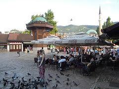 Zentrum in Sarajevos Altstadt