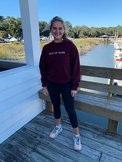 Crewneck Sweatshirt - Isle of Hope - CRIMSON