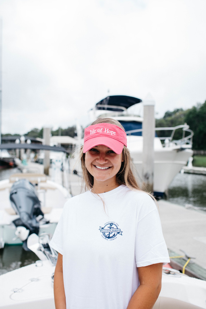 Items pictured: Pink Visor & White Savannah Sound T-shirt