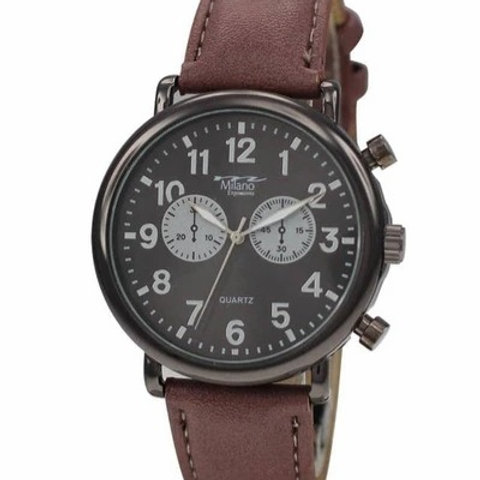 Milano Expressions Vegan Leather Band Watch