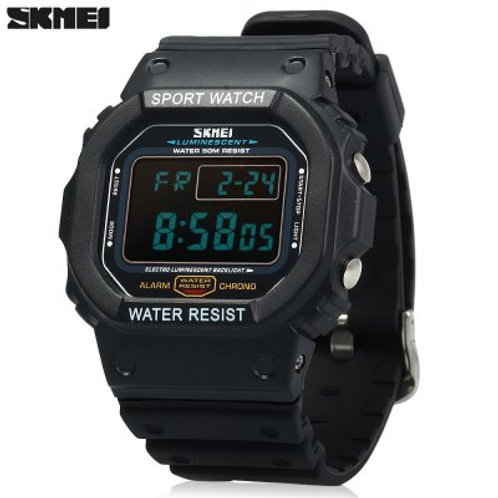 Sports Digital Watch with 5ATM Water Resistant Chronograph Alarm