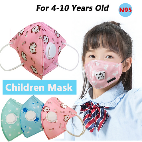 Disposable Children's Mask With Breathing Valve | 3pcs