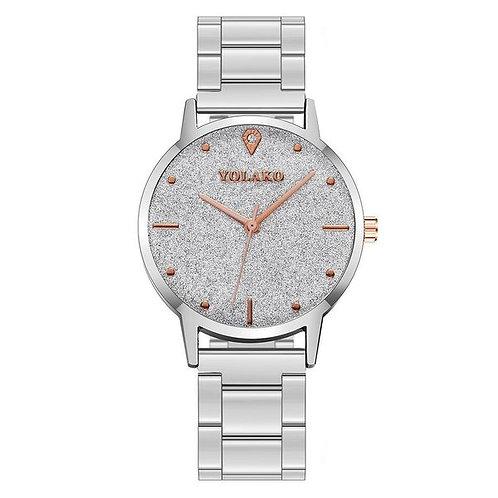 Frosted Diamond Sparkling Quartz Watch