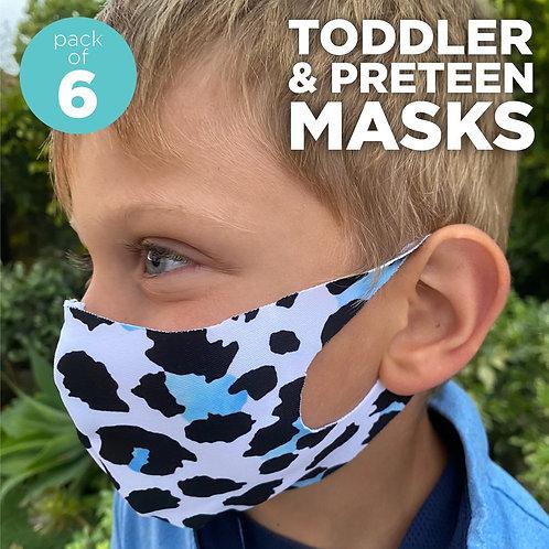 Assorted Kid's Laser Cut Face Mask  6 pcs