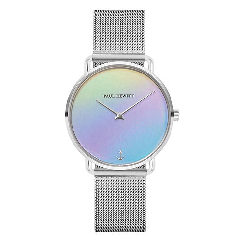 Miss Ocean Holo Silver Mesh Watch