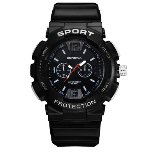 Silicon Band Analog Quartz Sport Men's Watch