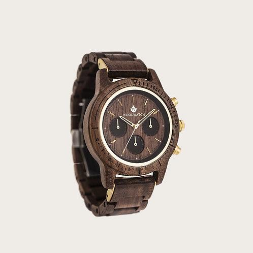 Walnut Gold Men's Watch