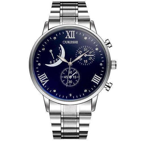 Fashion Crescent Calendar Quartz Watch