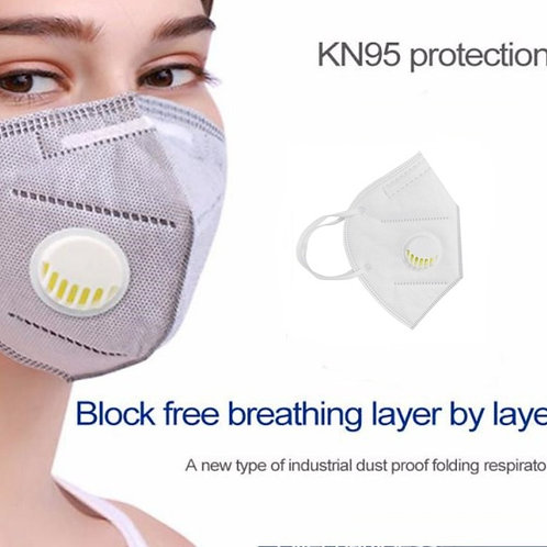 Kn95 6 Layer Mask With Breathing Valve |4 pcs