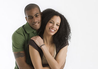 Black and ethnic minority romantic couple