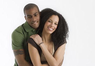 Black and ethnic minority romantic couple
