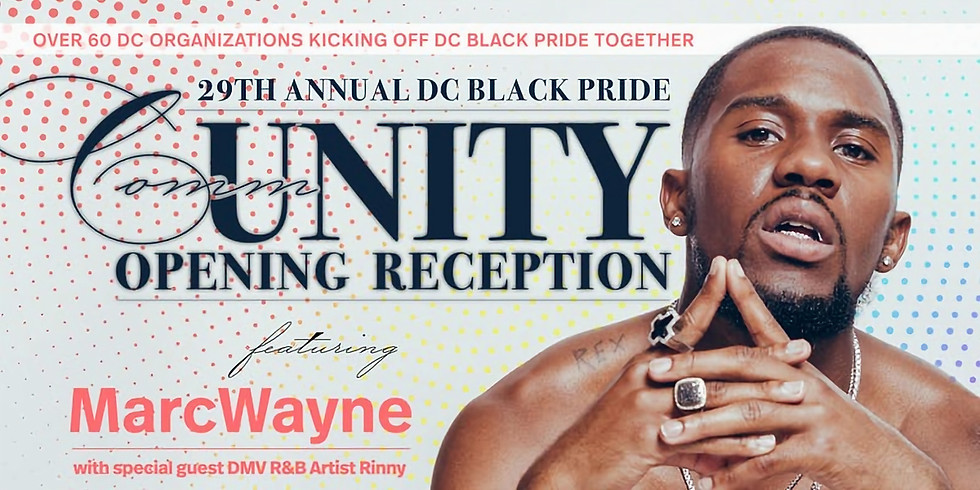 29th Annual DC Black Pride CommUNITY Opening Reception
