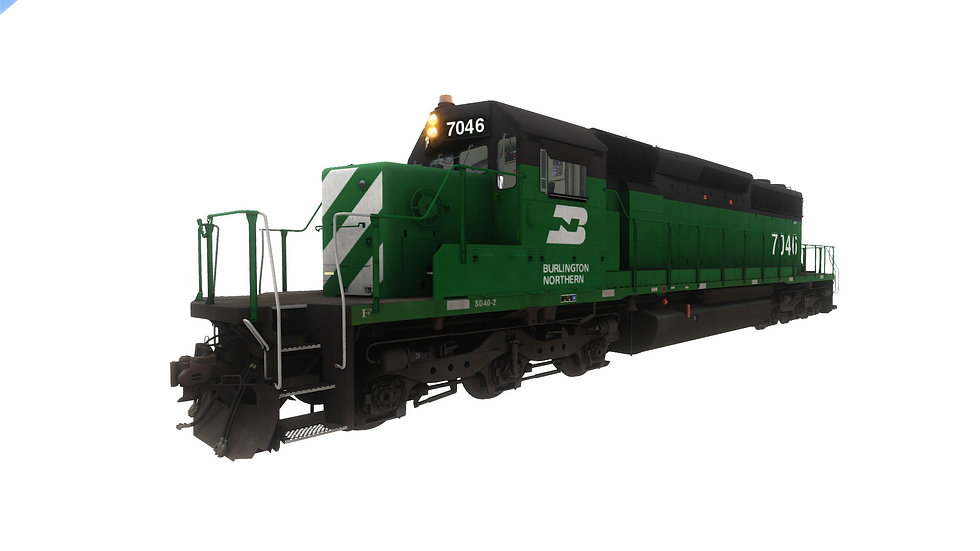 JointedRail - EMD SD40-2 - BN [Bundle]