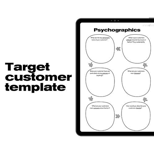 Target customer template