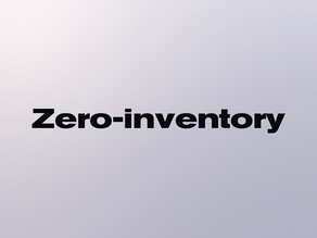What is the zero-inventory model?