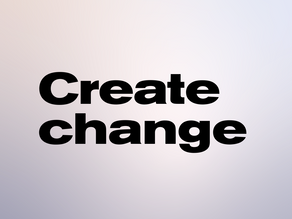 How to create change in fashion
