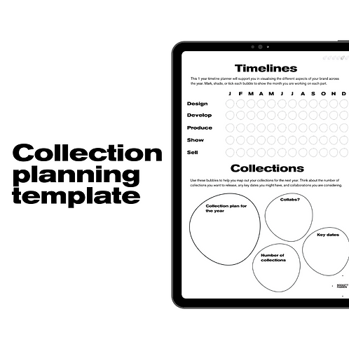 Collection planning template