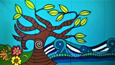 section 1 Graylands mural Mandala sunshi