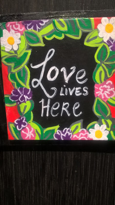 """""""Love Lives Here"""" By Artist Carolyn White"""