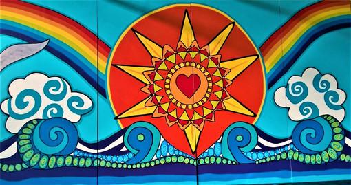 section 3 Graylands mural Mandala sunshi