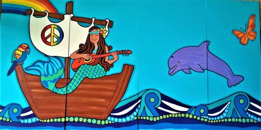 section 4 Graylands mural Mandala sunshi