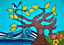 section 5 Graylands mural Mandala sunshi