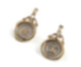 Personalised A-Z Mini Wax Seal Earrings with Birthstone