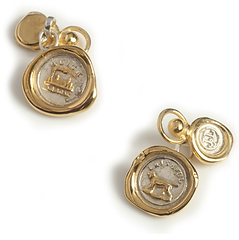 19th c Mini Seal Chain Cufflinks