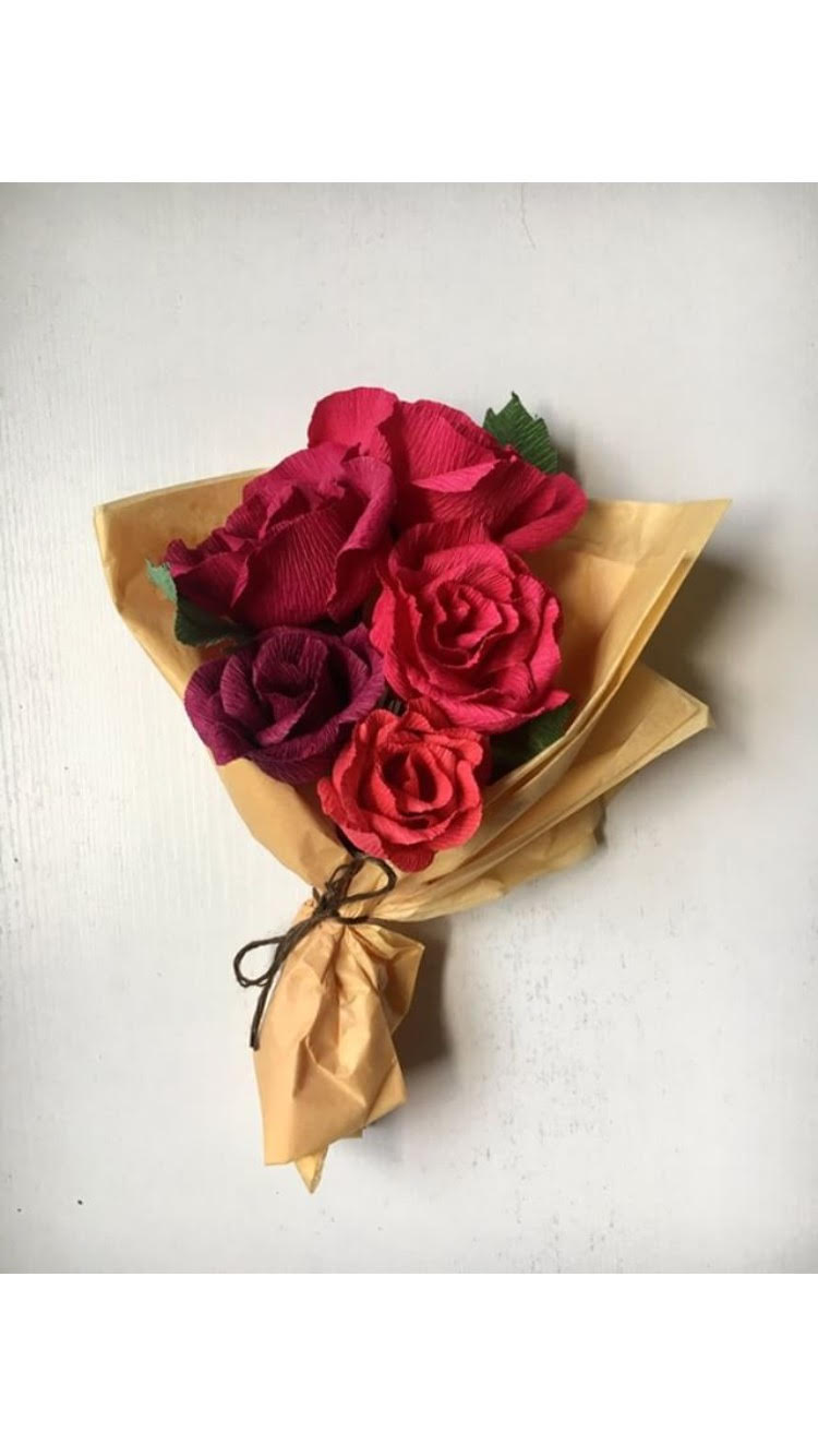 Paper Rose Bouquet Class