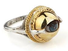 Mini Winking Dolly Eye Ring
